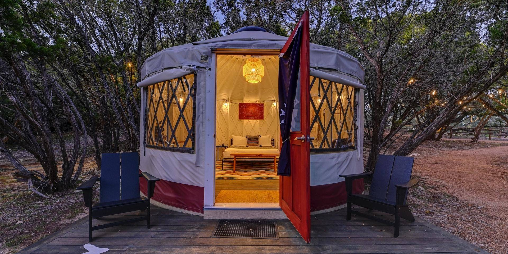 The Most Yurts In Texas At Lucky Arrow Retreat Dripping Springs